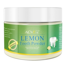 Aliver Lemon Extract Teeth Whitening Tooth Powder Peppermint Mint Remove Stains Oral Hygiene 70G