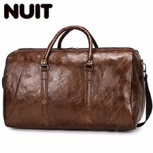 Ladies Large Travel Bags Pu Leather Short Duffle Luggage Bags Organizer Carry-on Bag Suitcase Bagsmart Packing Cubes Bag