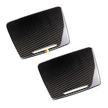메르세데스 벤츠 C 클래스 W205 C180 C200 C300 GLC260 탄소 섬유 자동차 워터 컵 홀더 패널 커버
