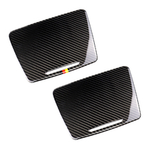 For Mercedes Benz C Class W205 C180 C200 C300 GLC260 Carbon Fiber Car Water Cup Holder Panel Cover