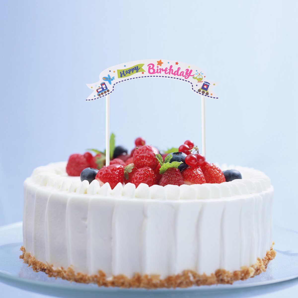 Tremendous Cupcake Toppers 5Pcs Happy Birthday Cake Toppers Flag Banner Personalised Birthday Cards Paralily Jamesorg