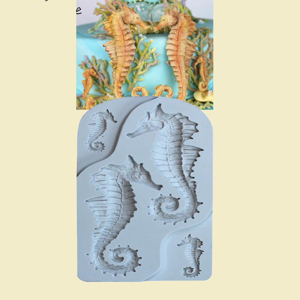 Party DIY Seahorse Silicone Mold Fondant Molds Sugarcraft Cake Environmental Decorating Tools Chocolate Candy Gumpaste Mold