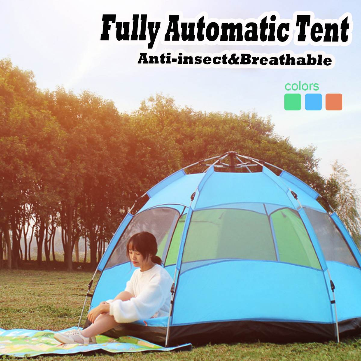 Automatic Tent 3-5 Person Camping Tent Tourist Tents Outdoor Camping Travelling Hiking Fishing Sun ShelterAutomatic Tent 3-5 Person Camping Tent Tourist Tents Outdoor Camping Travelling Hiking Fishing Sun Shelter
