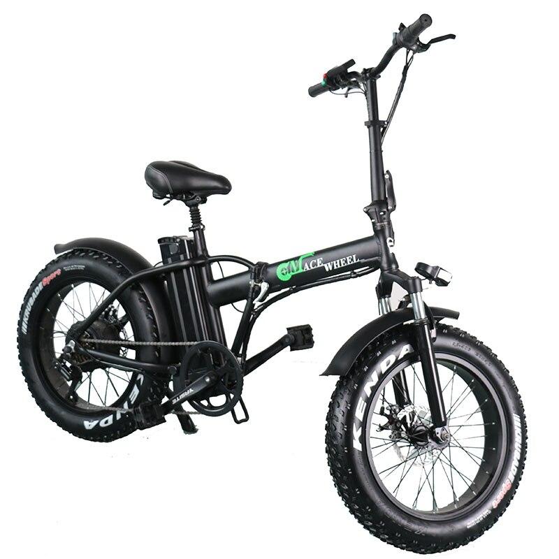 Europa Stock 2 Roda Pneu Gordura Bicicleta Elétrica 500W Com 48V 15ah Bateria Removível Elétrica Adulto Bicicleta Ciclo dom Bagagem Rack
