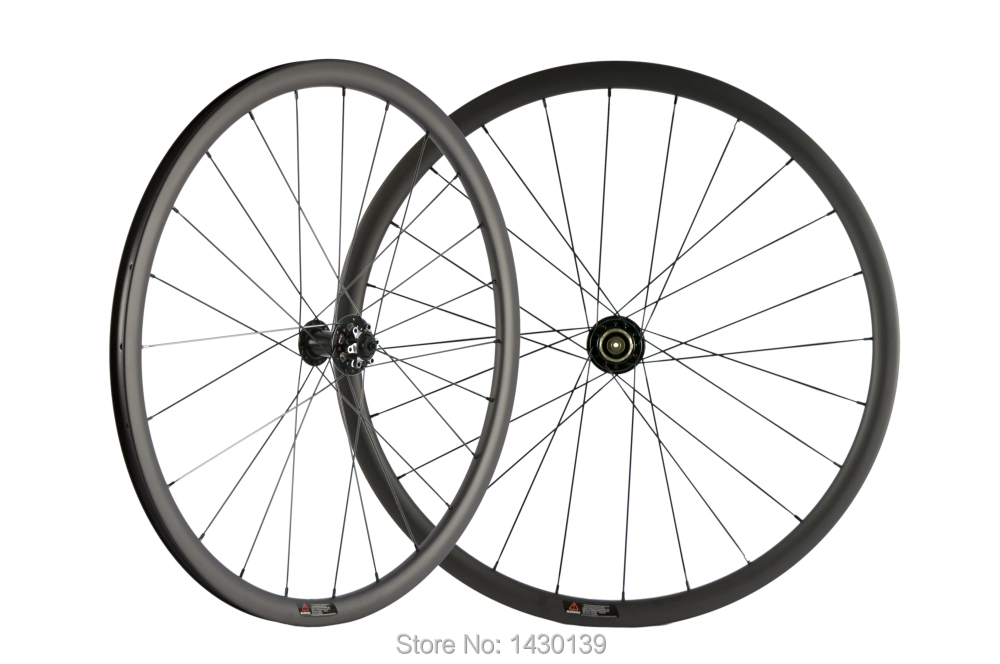 Image 3 - Newest 700C 30mm Road bike matt UD full carbon fibre bicycle wheelset carbon clincher rims 791 792 disc brake hubs Free shippingBicycle Wheel   -