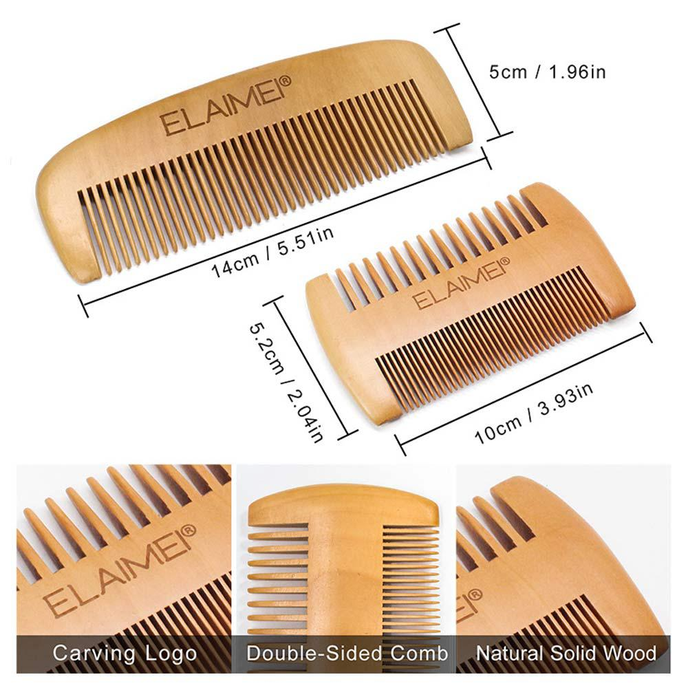 Image 3 - Beard Clean Set Trimming Kit With Essential Shampoo Brush Comb Oil Cream Scissors for Men Cleanse Refresh Grooming Perfect Gift-in Shaving Brush from Beauty & Health