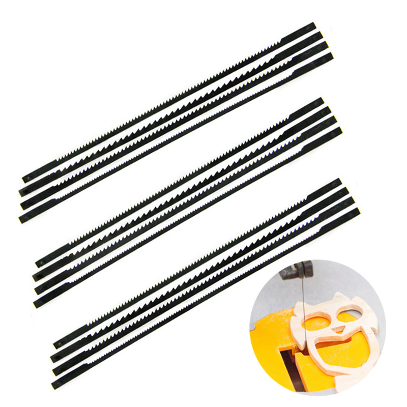 12* TPI 10 Pinned Black Scroll Saw Blades Woodworking Power Tool Accessories 125mm Sale For Soft Wood, Plywood, Plastic