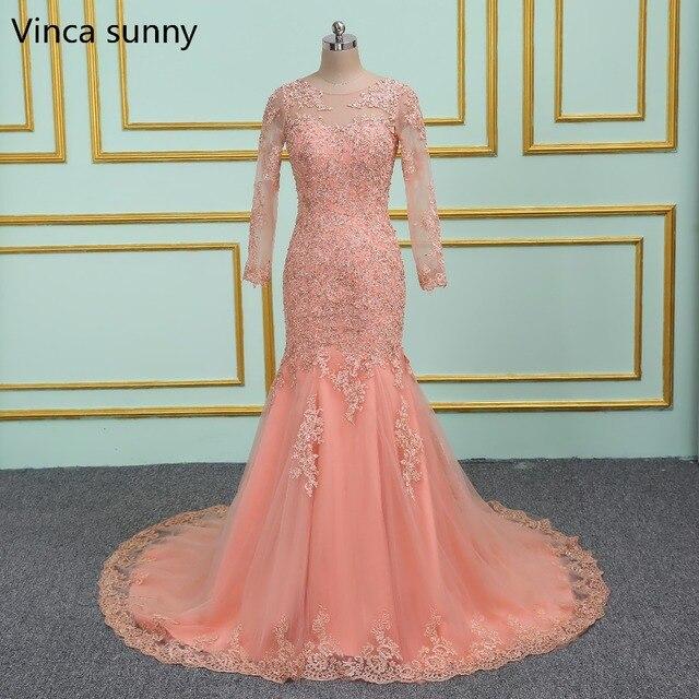 Vinca sunny vestido de casamento Mermaid wedding dresses 2019 Long Sleeves Lace Wedding dresses vestido de noiva Bridal gown