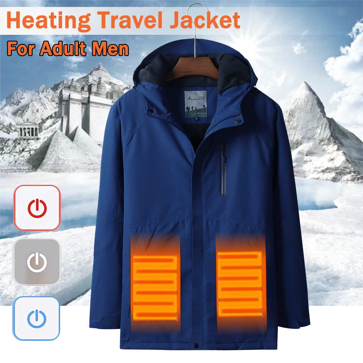 Waterproof Electric Heating Heaed Warm USB Hooded Travel Thick USB Heating Cotton Jacket Outdoor Windbreaker Hiking CostWaterproof Electric Heating Heaed Warm USB Hooded Travel Thick USB Heating Cotton Jacket Outdoor Windbreaker Hiking Cost