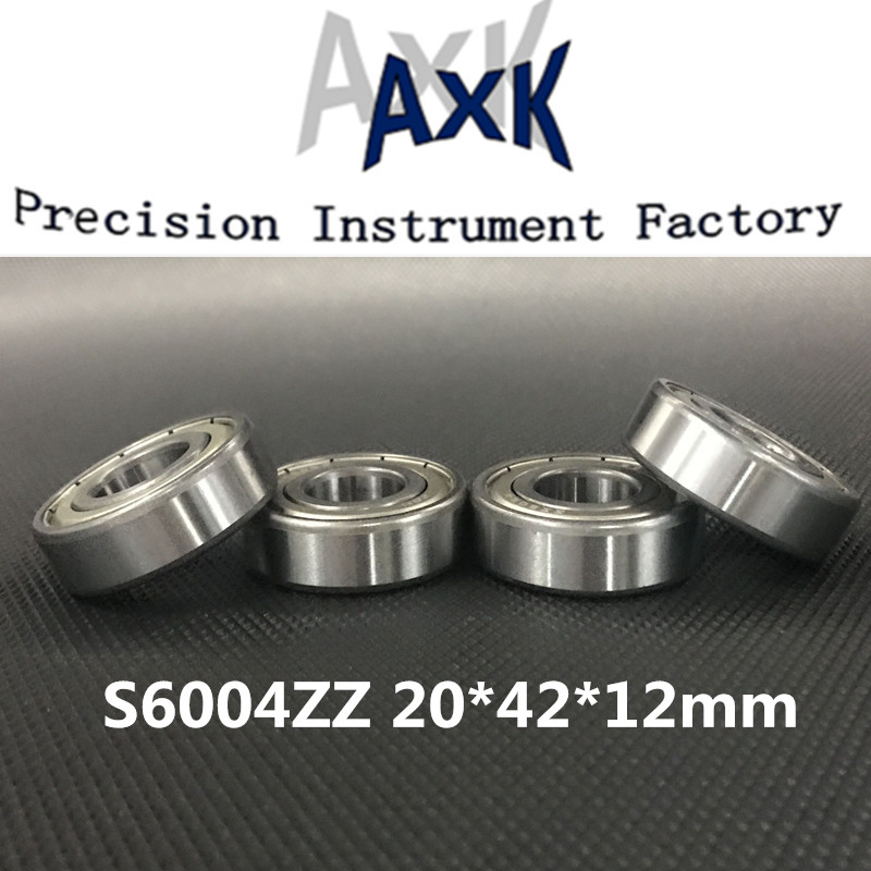 2019 High Quality S6004zz Abec 3 10pcs Stainless Steel Deep Groove Ball Bearing 20x42x12mm 6004zz ss