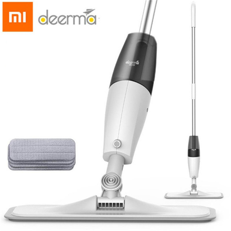 The Xiaomi Deerma Spraying Water Sweeper Mijia Half The Carbon Fiber Brush To Wipe Dust 360 Rotating Shaft 350 Ml Wax Mop Tank