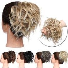 S-noilite грязные резинки шиньон волосы булочка прямая эластичная лента шиньон для создания прически синтетические волосы шиньон наращивание волос для женщин