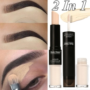 1 Piece Makeup Concealer Cream Foundation Cover Skin Face Contour Concealer Cosmetics Double Head Face Eye Lip Concealer Stick