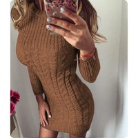 Spring Long Sleeve Pullover Christmas Sweater Women Long Sleeve Knitted Long Sweater