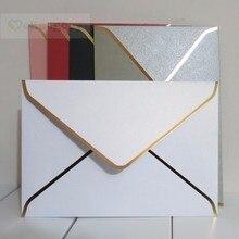 25 stücke 194x134mm (7,5x5,2 zoll) perle Farbe Umschlag mit Gold stanzen Dicke Hochzeit Einladung Umschlag