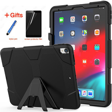For New iPad Pro 12.9 (2018) Tablet Model A1876 Shockproof Hard case Military Heavy Duty Silicone Rugged Stand Protective Cover