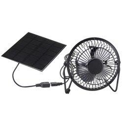 Wysokiej jakości 4 Cal chłodzenia wentylator USB panel zasilany energią słoneczną żelazny wentylator dla domowego biura podróży na zewnątrz połowów|Wentylatory|   -