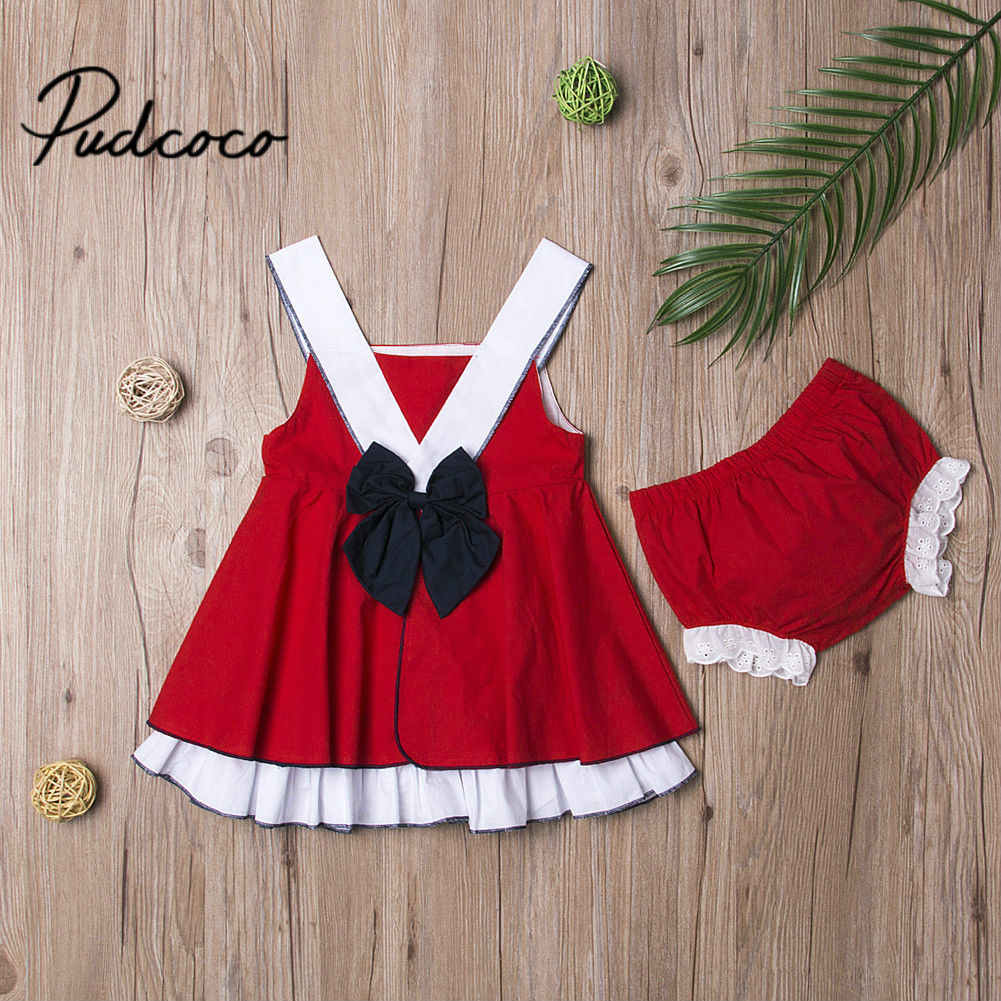7bdb98c75e63 New Years Girls Clothing Sets 2019 Summer Kids Clothes Bow-Knot Chiffon  Halter+Under