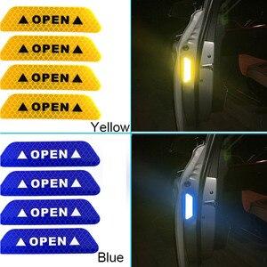 Image 5 - 4 個車のドアステッカーデカール警告テープ車反射ステッカー反射ストリップ車スタイリング 5 色安全マーク車のステッカー