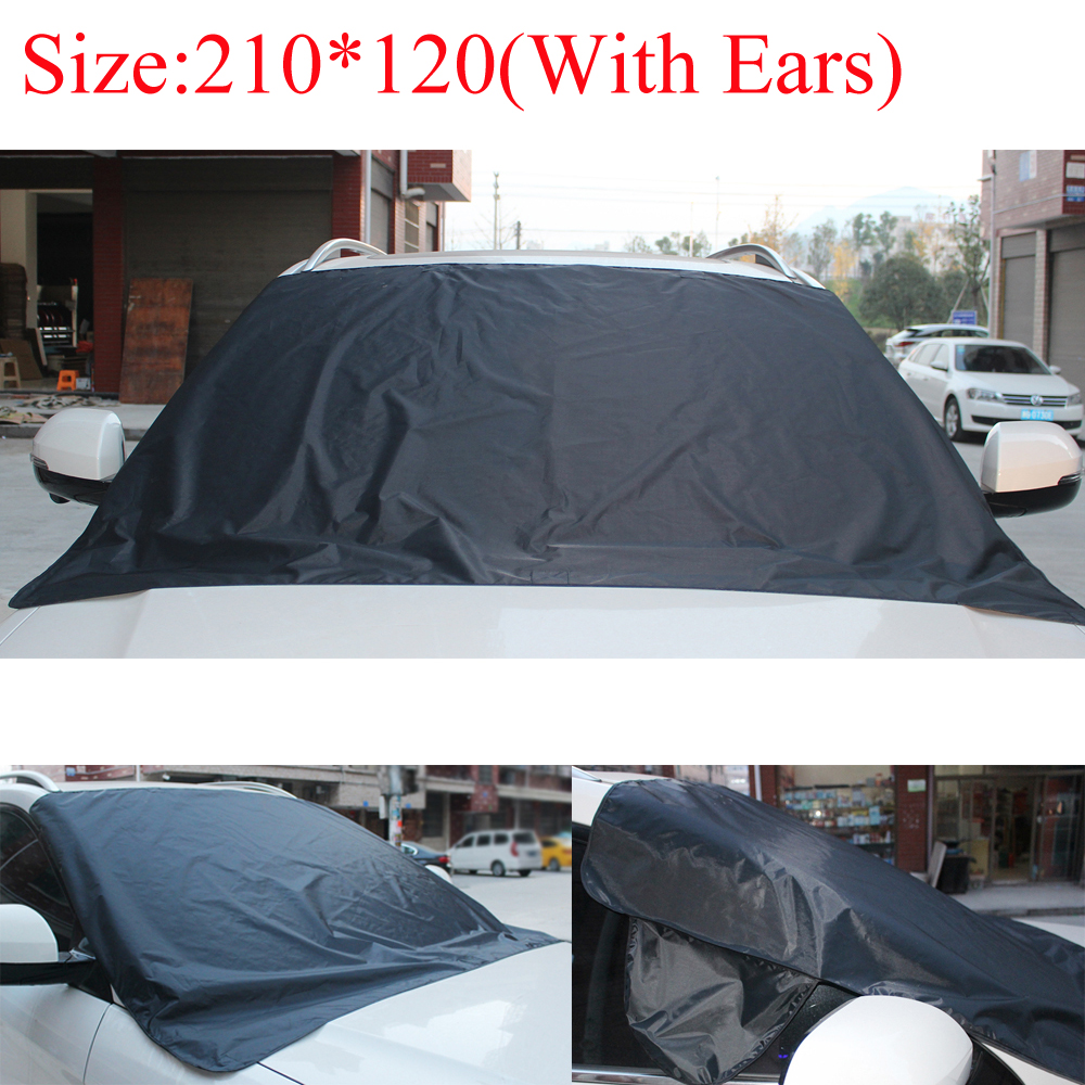 us $3.77 16% off|magnetic car windshield snow cover winter ice frost guard  protector sun shield car glass snowproof dustproof cover-in window valance