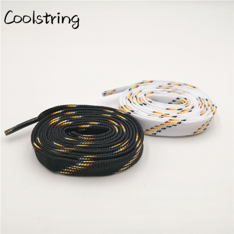 Coolstring Premium Polyester Striped Shoelaces Chromatic Canvas Bootlace For Sneakers Sport Clothes Cap Pants Rope Belt Lacet