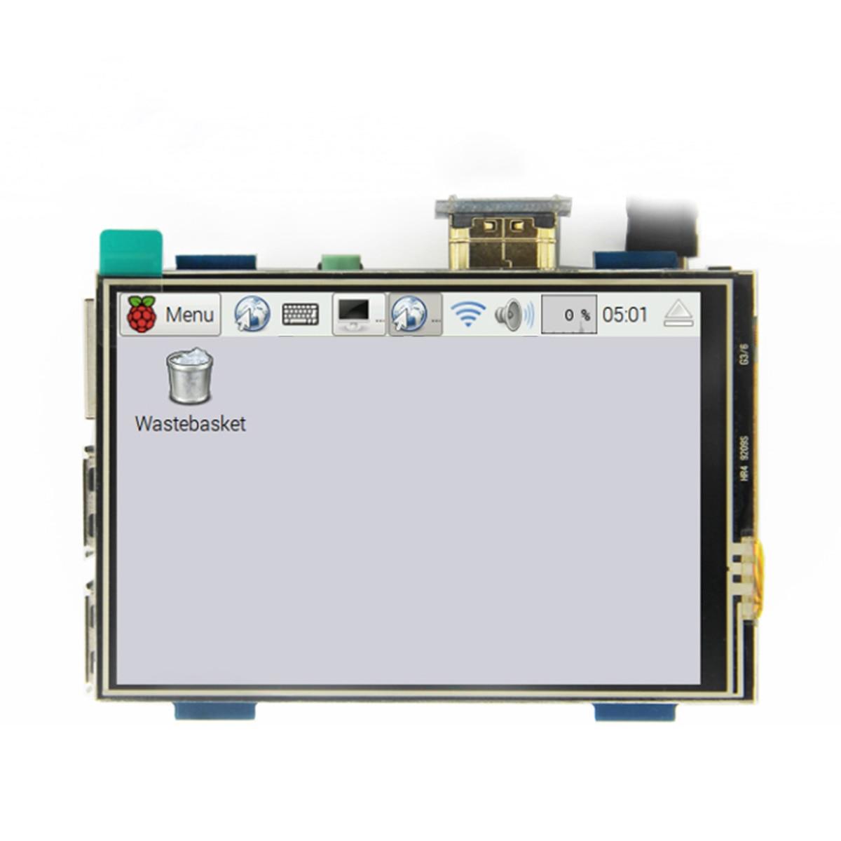 hot-3.5 inch LCD HDMI USB Touch Screen Real HD 1920x1080 LCD Display for Raspberri 3 Model B / Orange Pi (Play Game Video)MPI3