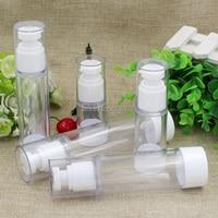 10/20pcs Portable Transparent Lotion Bottle Airless 80ml 100ml Empty Vacuum Pump Toilet Vessel Cosmetic Bottle