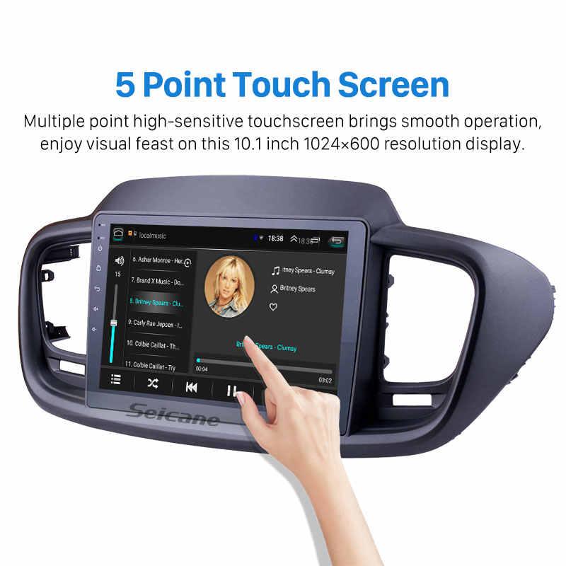 Seicane 10.1 بوصة 2din أندرويد 8.1 راديو السيارة لتحديد المواقع وحدة رئيس لكيا سورينتو 2015 2016 (LHD) واي فاي بلوتوث الجيل الثالث 3G مشغل وسائط متعددة