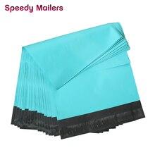 Hızlı Mailers 10x13 inç renkli poli Mailer Teal yeşil poli mailler öz mühür plastik ambalaj zarf çanta 260x 330mm