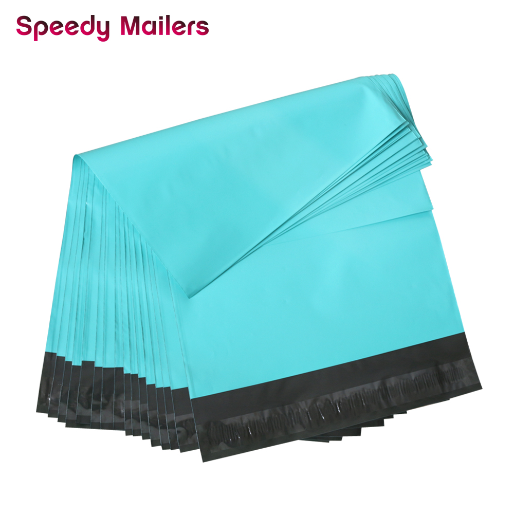 Speedy Mailers 10x13inch Colorful Poly Mailer Teal Green Poly Mailer Self Seal Plastic Packing Envelope Bags 260x330mm