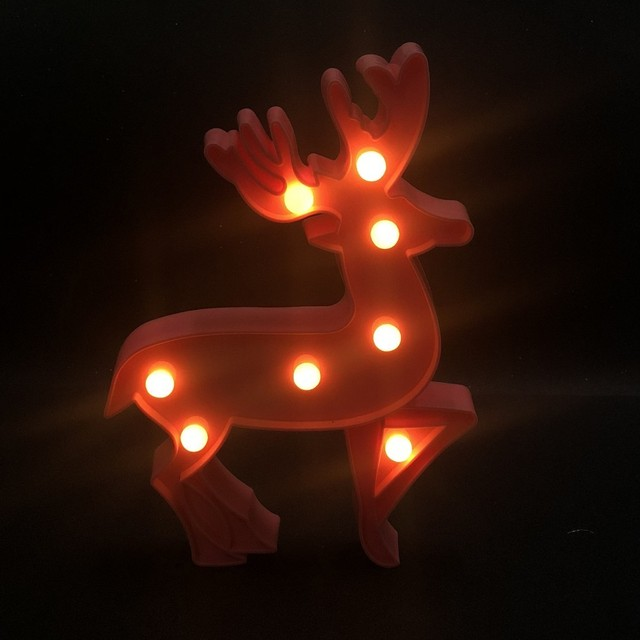 Christmas Reindeer LED Bedside Lamp Decoration Home Battery Power Cartoon Baby Lamp Night Light For New Year Gift Dropshipping