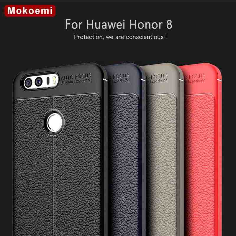 "Mokoemi Fashion Lichee Pattern Shock Proof Soft 5.2""For Huawei Honor 8 Case For Huawei Honor 8 Cell Phone Case Cover"