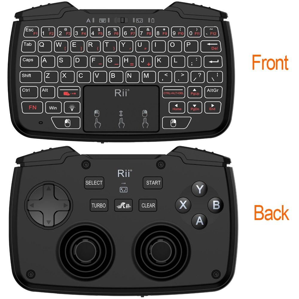 2.4 GHz Mini Sans Fil Gaming Clavier Avec Touchpad Contrôleur de Jeu Dpad ABXY Bouton L1 R1 L2 R2 Turbo Fonction Pour TV Box PC PS3