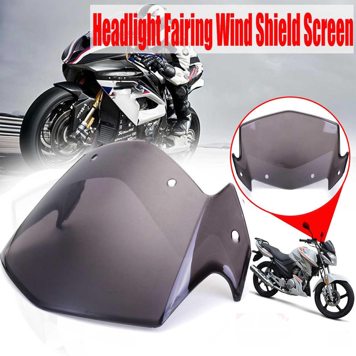 Motorcycle Wind Deflector Windscreen Windshield For Yamaha YBR 125 YBR125 2014-2017 Headlight Fairing Wind Shield Screen