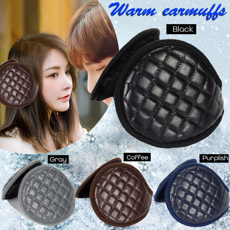 Warm Earmuffs Men Women Winter Earmuffs Folded Leather Thickening Ear Solid Durable Exquisite Workmanship Compact Convenient
