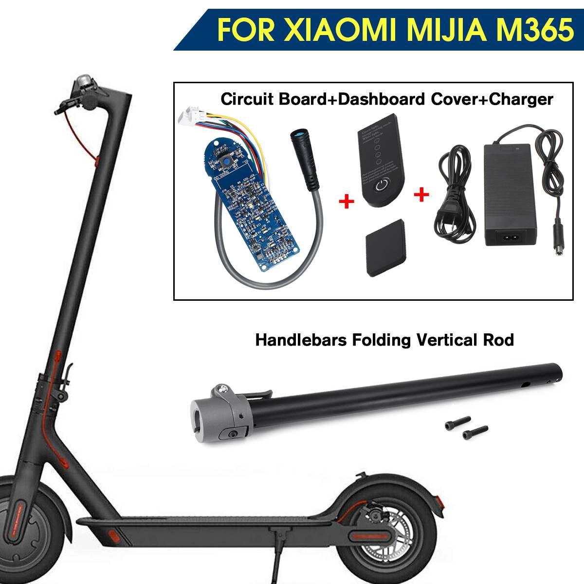 Pour XIAOMI MIJIA M365 Scooter guidon de tuyau de chargement d'origine pliant Vertical pièces de tige accessoires Scooter Skateboard Circuit