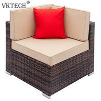 Comfortable Sofa Set Vintage Fully Equipped Weaving Rattan Living Room Left Corner Sofa Set Home Furniture Home Decor