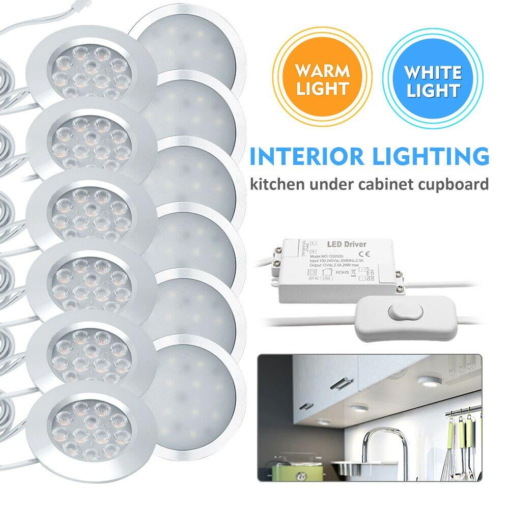 6 x 12V Campervan LED Lighting Kit //Ultra Thin//Full kit//Camper Conversion//T5//VW