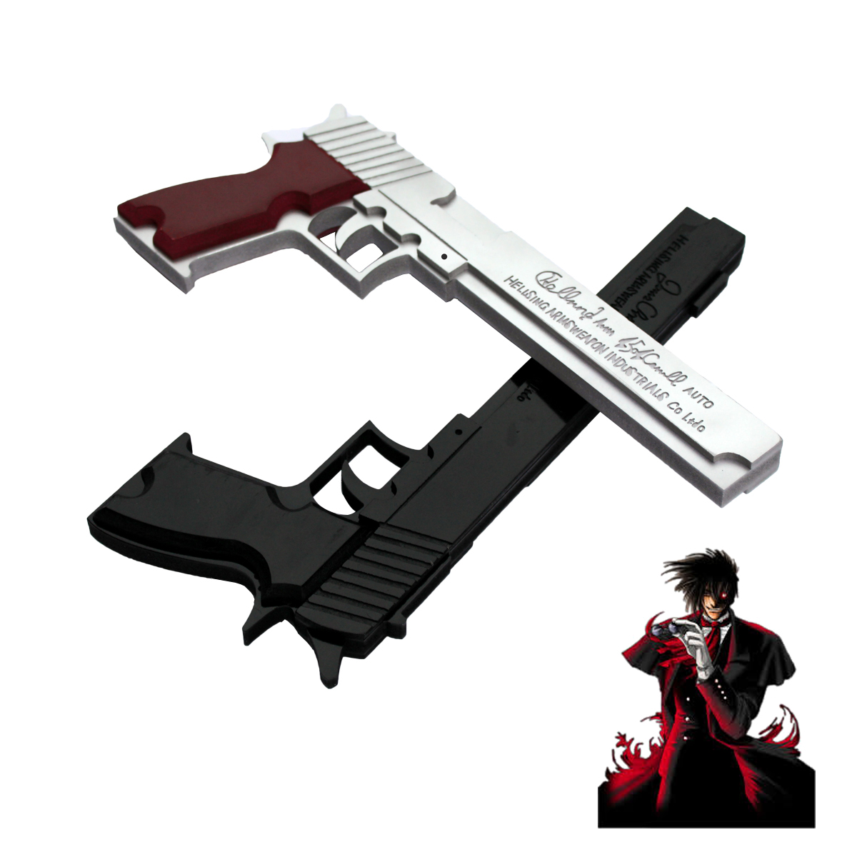 Costumes & Accessories Forceful New Hellsing Alucard Jackal Gun Cosplay Prop 14 Pvc Made Moderate Price