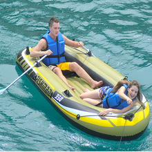 Rubber Dinghy Thick Fishing Boat Drift Boat Two/Three/Four People Inflatable Boat Kayak Fisherman's Boat with Paddle Pump