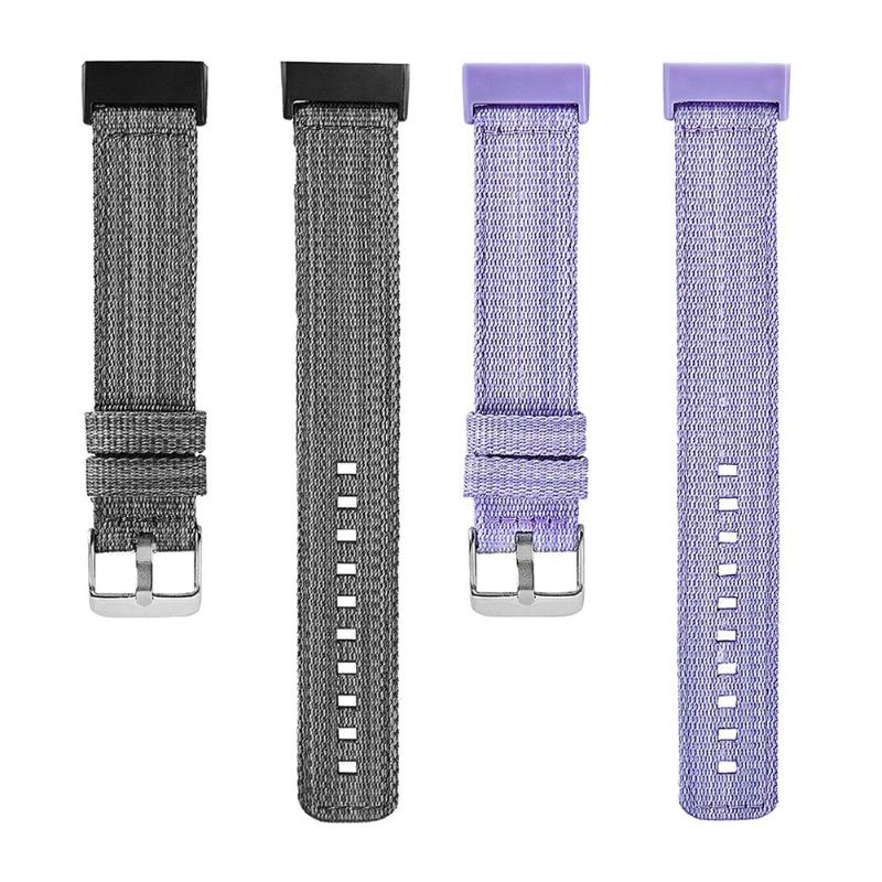 ALLOYSEED Solid Color Nylon Band Replacement Watchband Watch Strap Wrist Bracelet for Fitbit Charge 3 Smart Wearable Accessories