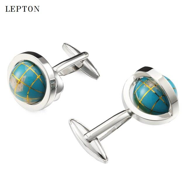 Фото новый глобус лептон запонки в виде земного шара для мужчин высокое цена