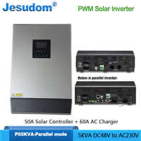 PWM Solar Inverter 5000VA/4000W Built-in 48V50A PWM Solar Charge Controller with 60A AC Charger Can be Parallel with Max. 30KVA