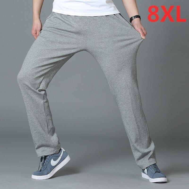 2018 nouveau printemps casual Pantalon hommes pantalon cargo coton lâche pantalon mens pantalon salopette de mode super grande taille 8XL 7XL 6XL 5XL