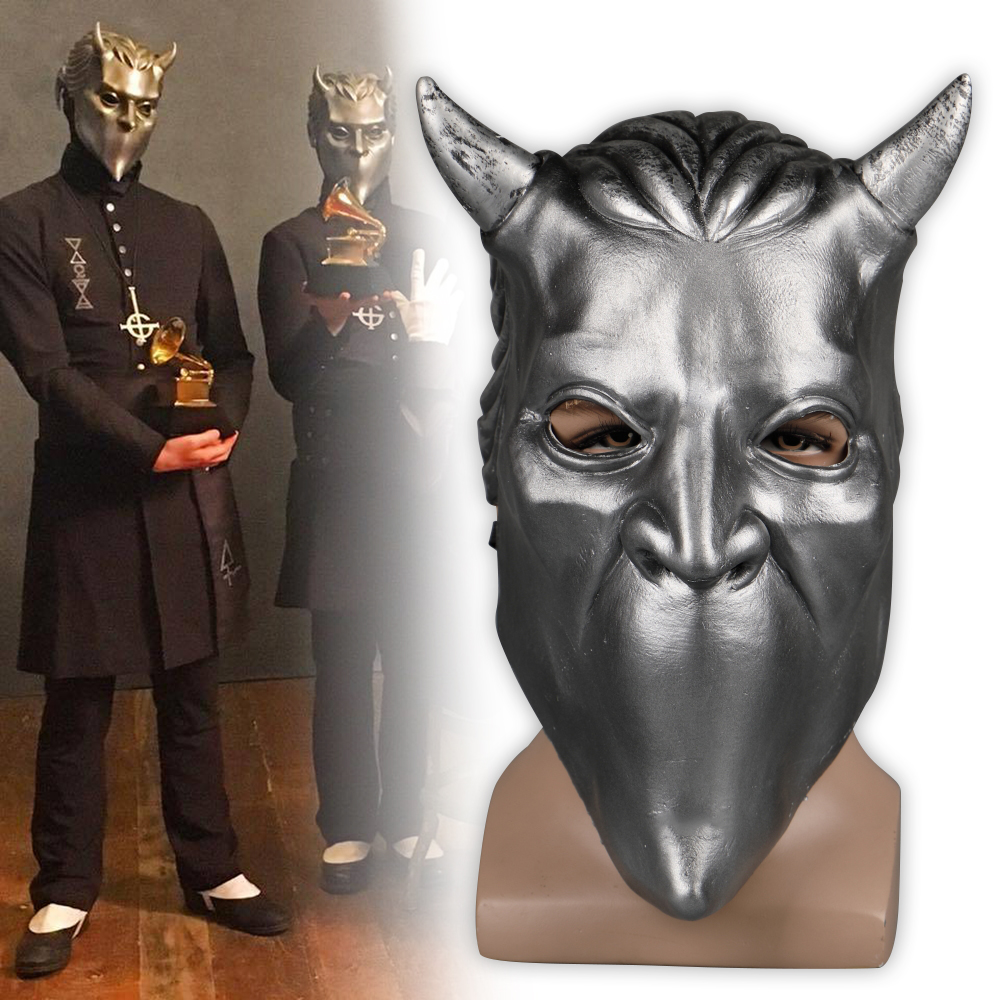 Ghost Nameless Ghoul Mask Cosplay Ghost B.C Rock Roll Band Latex Helmet Masks Halloween Party Props DropShipping