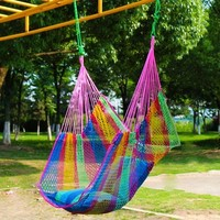 Garden balcony Breathable Ice Mesh Hammock Outdoor Swing Chair Indoor Safety Portable Lightweight Patio Swings with pillow HW04