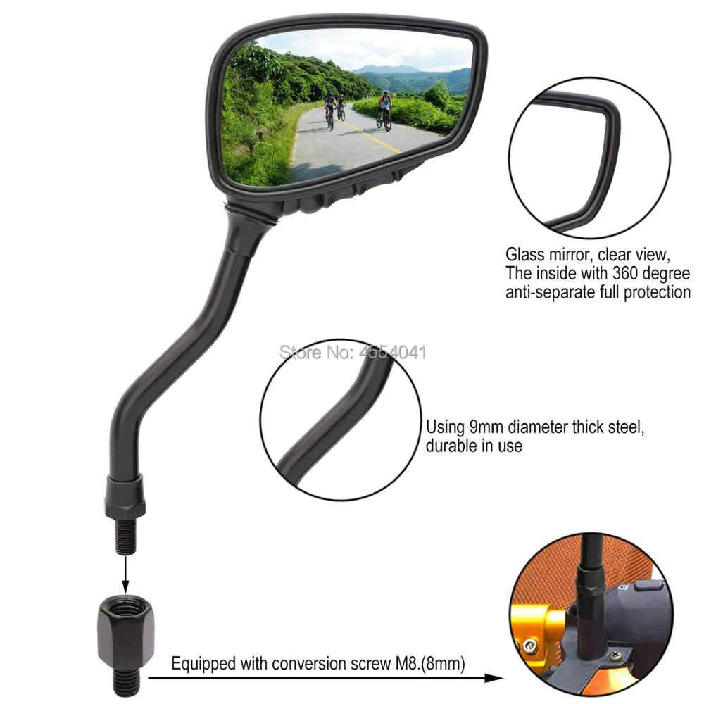 1 Pair Bicycle Mirror Bike Rear View Mirror Blindsight Multi Angle