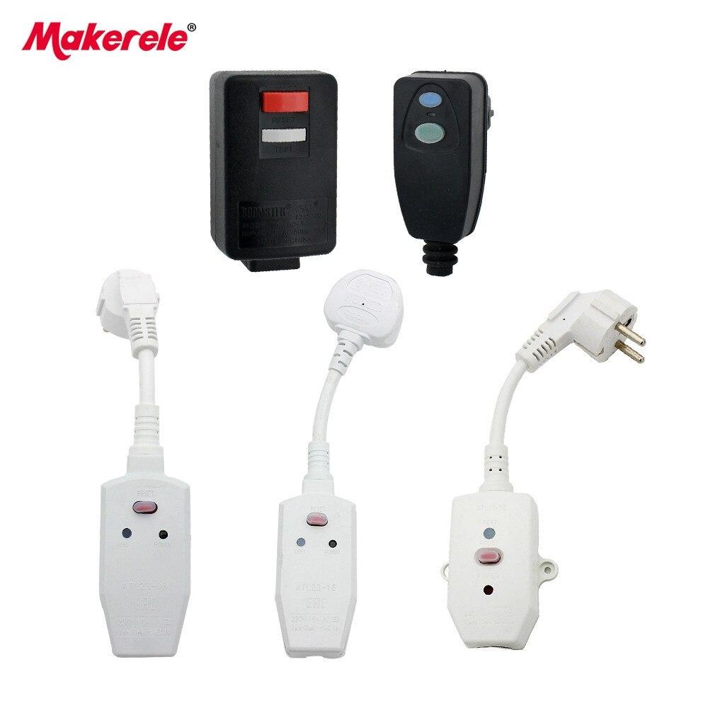 Multi-tipo interruptor de proteção contra vazamento À Prova D' Água do Agregado Familiar Europeia Plug Rcd Para Aquecedores De Água, Máquinas de Lavar, ar condicionado