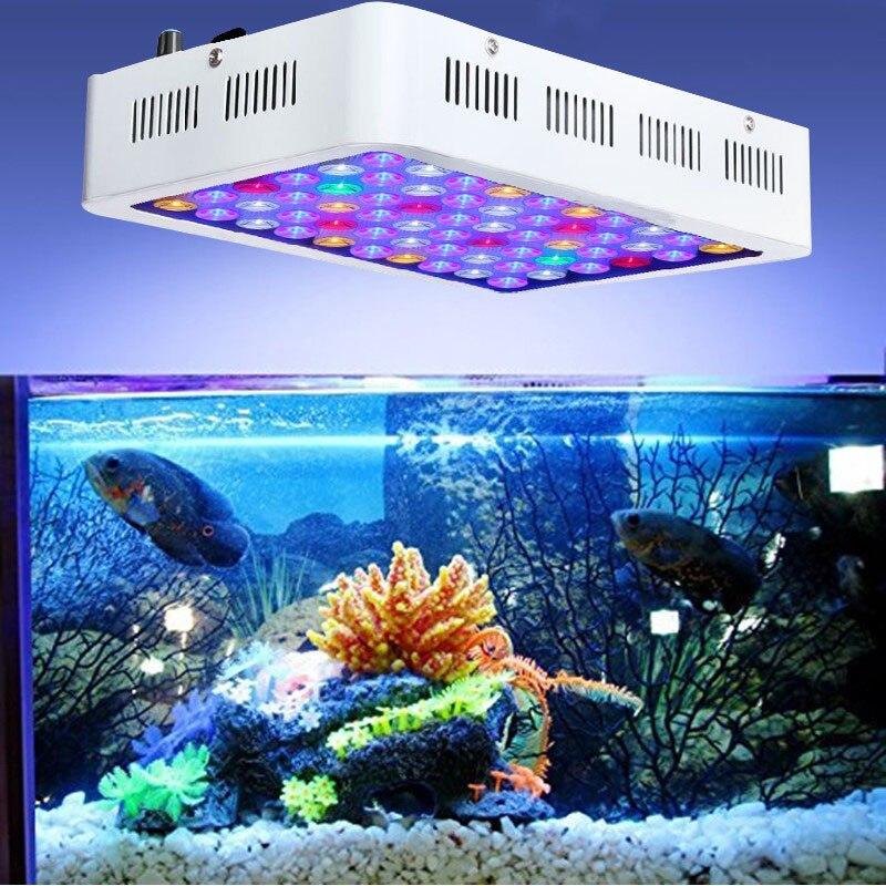 180W LED Aquarium Light Dimmable Tank Marine Fish Plants Coral Coral Reef Lamp Safe and Eco-friendly AU/UK/EU/US Plug 100w lumia 5 1 diy aquarium led light sunrise sunset dimmable led aquarium light 100w remote auto dim coral reef led lighting
