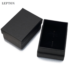 Hot Sale Black Paper Cufflinks Boxes 20 PCS/Lots High Quality Black matte paper Jewelry Boxes Cuff links Carrying Case wholesale